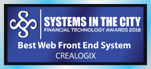 Systems in the City Financial Technology Awards 2018 - Best Web Front End System winner CREALOGIX
